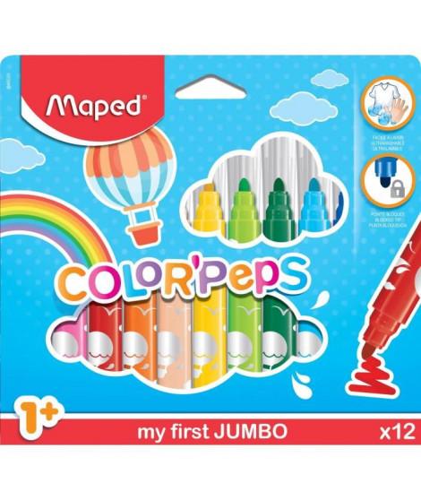 MAPED Boîte Carton de 12 Feutres Color'peps Maxi