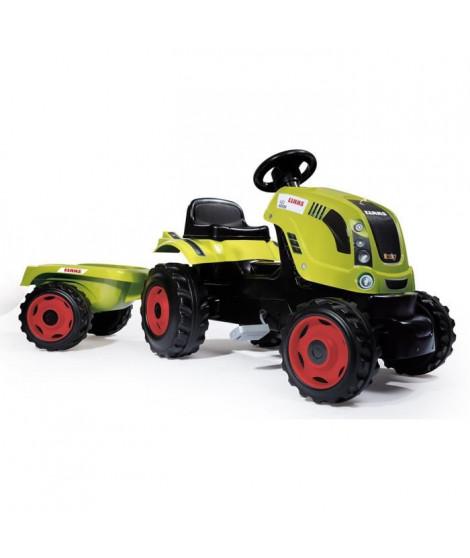 SMOBY CLAAS Tracteur a pédales Farmer XL + Remorque