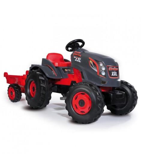 SMOBY Tracteur a pédales Stronger XXL + Remorque