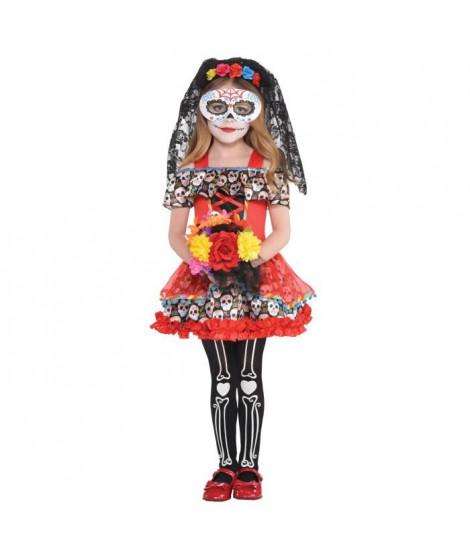 AMSCAN Costume Fille Sugar Skull Senorita