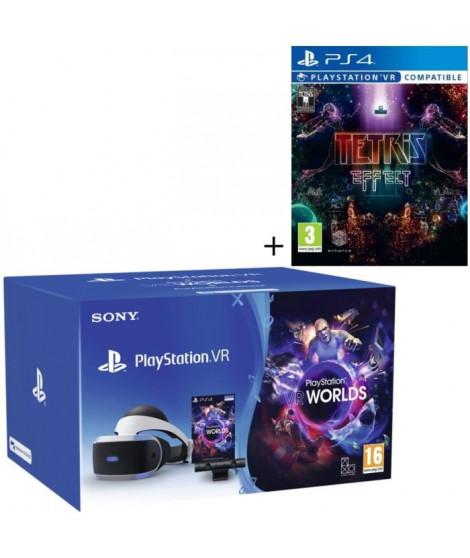 Pack PlayStation VR V2 MK4 + PlayStation Caméra + 2 Jeux : VR Worlds + Tetris Effect