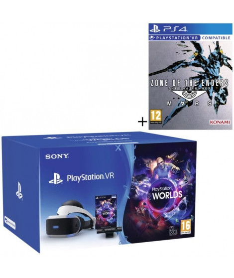Pack PlayStation VR V2 + PlayStation Caméra + 2 jeux : VR Worlds (a télécharger) + Zone of The Enders - The 2nd Runner: Mars