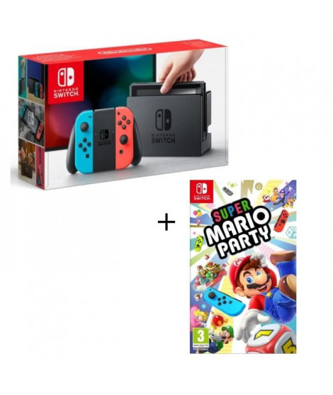 Console Nintendo Switch Néon + Super Mario Party