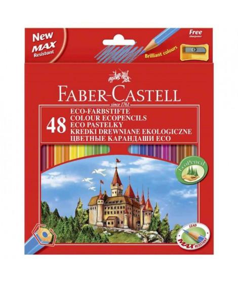 FABER-CASTELL Etui de 48 Crayons de couleur château - Coloris assortis