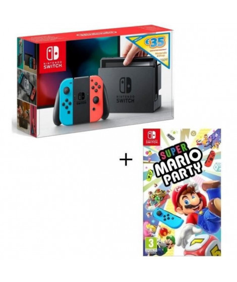 Console Nintendo Switch Néon + Super Mario Party + code téléchargement 35? Nintendo eShop