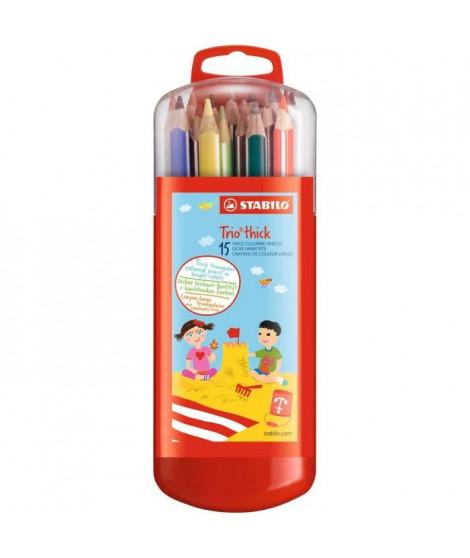 STABILO Etui malin de 15 Crayons de couleur Trio