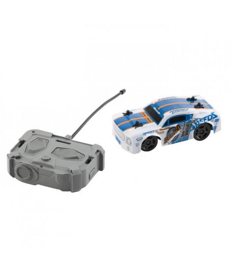 RACE TIN Voiture télécommandée Car Muscle Car - Bleu et blanc - 1:32 - 8 km/h