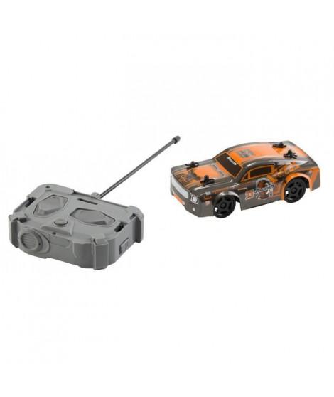 RACE TIN Voiture télécommandée Car Muscle Car - Orange et gris métallisé - 1:32 - 8 km/h