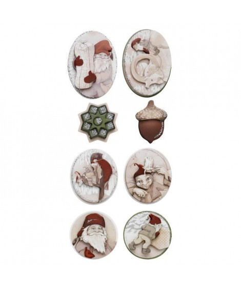 PANDURO Stickers 3D Elfes - 8 pieces