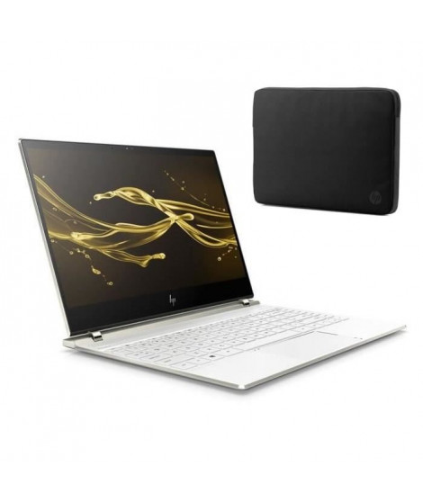 "HP PC Spectre- HP13af002nf - 13.3"" FHD tactile - RAM 8Go - Windows 10-Core i5-8250U-Intel UHD- Stockage 512Go+housse"