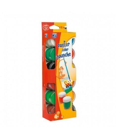LEFRANC & BOURGEOIS Assortiment Pots gouache - Boîte carton 12x22ml
