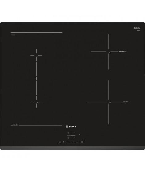 BOSCH PVS631BB5E Table induction 60 cm - Affichage digital - Commande TouchSelect (+/-) - Devant biseauté - 4 foyers