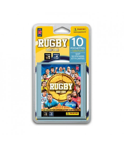 RUGBY 2018 2019 Stickers - Blister de 10 pochettes + 1 pochette gratuite
