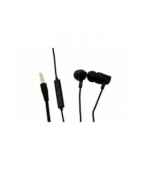 KOVE K300 Ecouteurs intra-auriculaire filaire avec micro intégré - Noir
