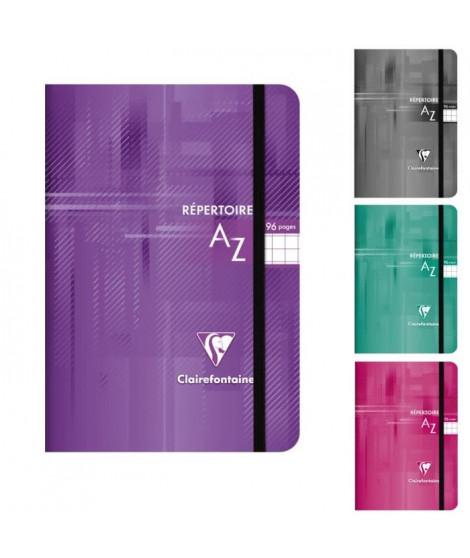 CLAIREFONTAINE - Repertoire piqûre - 90 x 14 - 96 pages 5x5 - Couverture pelliculée - 4 couleurs aléatoires