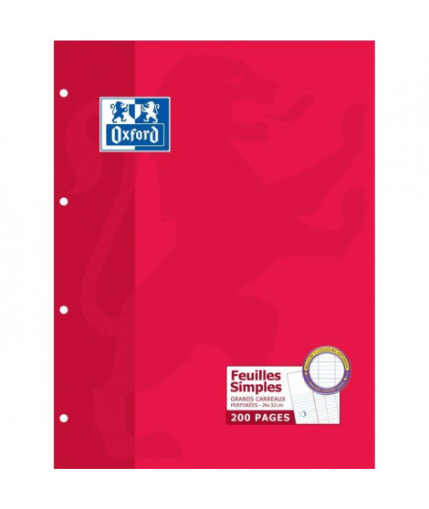 OXFORD Feuilles mobiles 24x32 Seyes