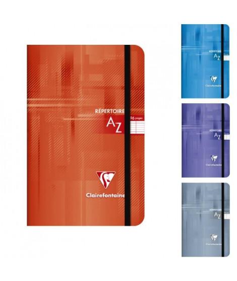 CLAIREFONTAINE - Repertoire piqûre a élastique - 11 x 17 - 96 pages Seyes - Couverture pelliculée - 4 couleurs aléatoires