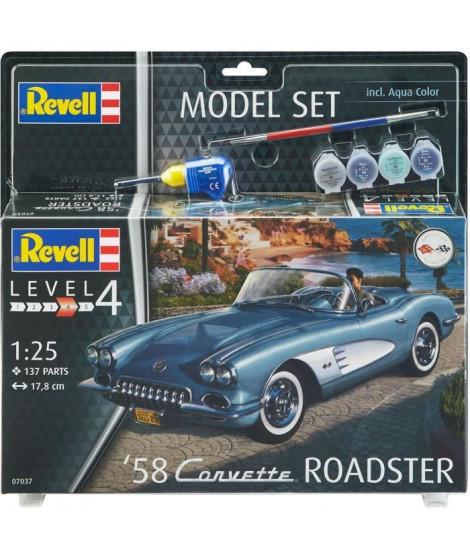 REVELL Maquette Model set Voitures 58 Corvette Roadster 67037