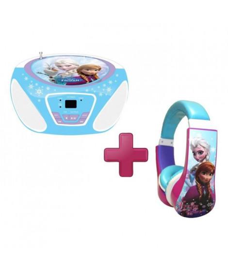 LA REINE DES NEIGES Pack CD Boombox + Casque Audio