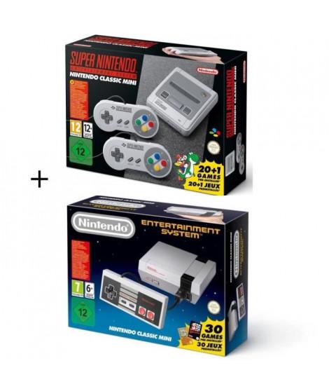 Pack 2 consoles Retro Nintendo : Super NES + Classic Mini NES