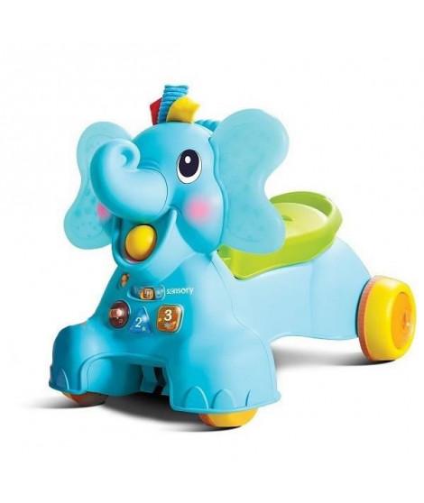 BKIDS Senso porteur éléphant 3 en 1