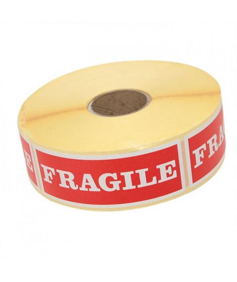 Rouleau de 1000 étiquettes rouges auto-collante im
