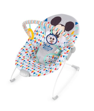 Disney Baby - Mickey Transat avec siege vibrant Happy Triangles - Garçon et fille
