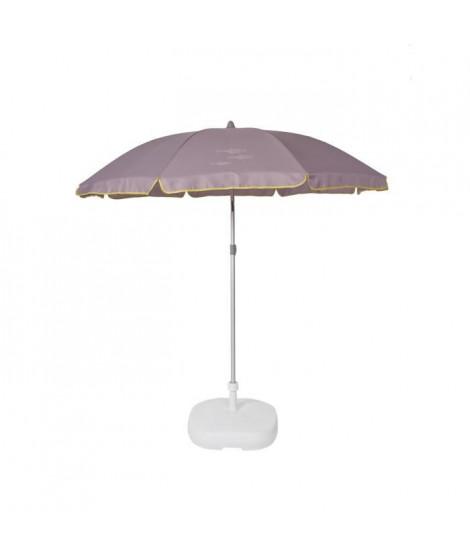 EZPELETA Parasol de plage Beach - Ø 180 cm - Poisson gris Socle non inclus