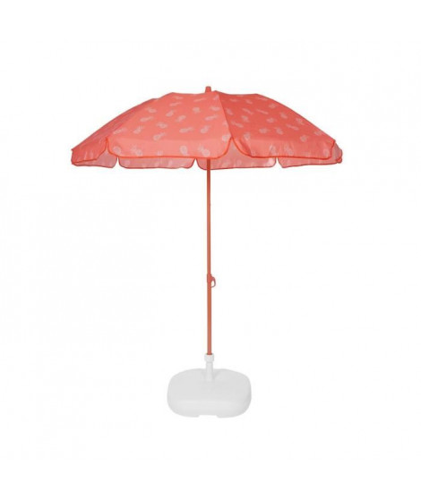 EZPELETA Parasol de plage Fold - Ø 180 cm - Ananas orange Socle non inclus