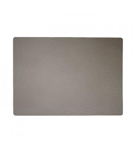Lot de 4 Sets de table textile - 43x30 cm - Gris taupe
