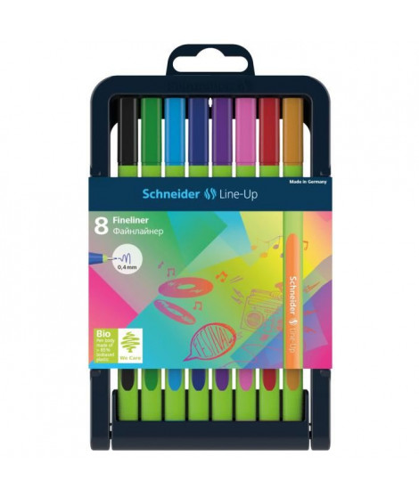SCHNEIDER Etui de 9 fineliner Line-Up 0,4 - Assorti
