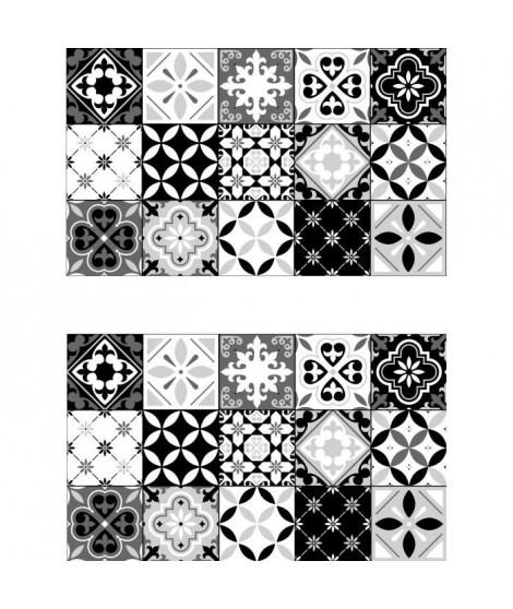 Lot de 2 sets de table Ceramic - 100% Vinyle - 35 x 49,5 cm - Motif Carreaux de Ciment
