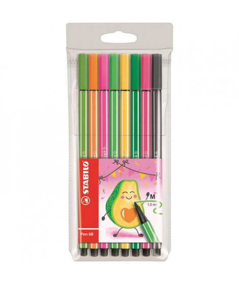 STABILO 8 feutres de dessin Pen 68 Living colors - Décor avocat