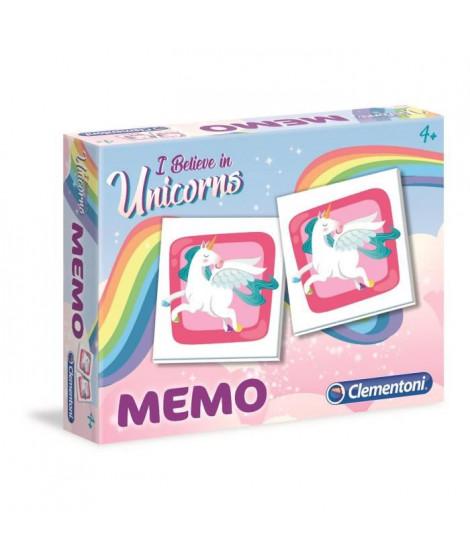 CLEMENTONI Mémo - Licornes - Jeu de mémorisation