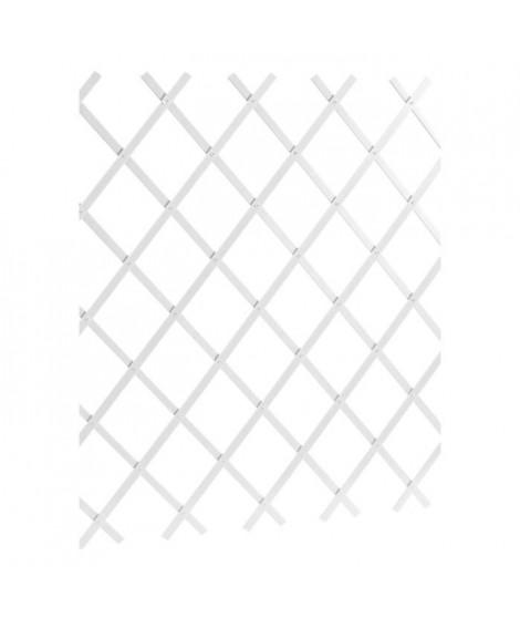 LAMS Treillage PVC lisse - 2 x 1 m - Blanc