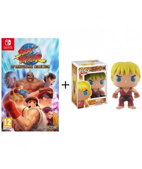 Pack Street Fighter: Jeu Switch Street Fighter 30th Anniversary Collection + Figurine Funko Pop! Ken