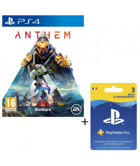 Pack Anthem + Abonnement PlayStation Plus 3 Mois