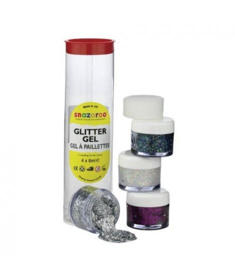 SNAZAROO Set gels pailletés 4*8ml (argent, diamant, multicolor, violet)