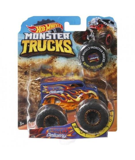 HOT WHEELS - Monster Truck - Méga roues et méga amortisseurs - Modele Aléatoire parmi 48 Monster Trucks - Echelle 1:64