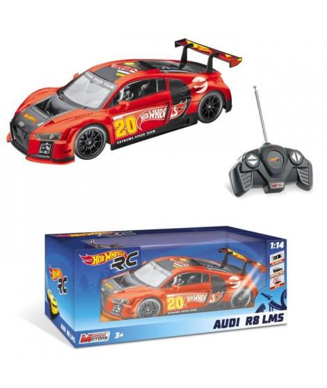 Hot Wheels - Audi R8 - Rallye - Voiture Radiocommandée - échelle 1/14eme  - Garçon - Mixte - A partir de 3 ans