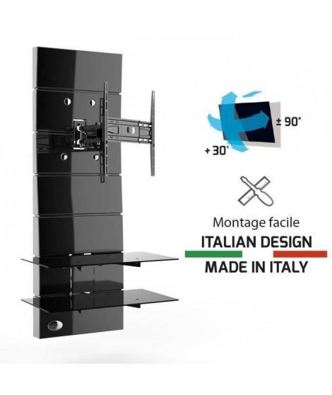 """MELICONI Meuble TV support orientable 32 a 63"""" - Jusqu'a 30 kg - Noir"""