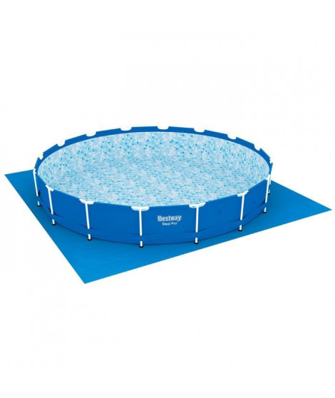 BESTWAY Tapis de sol pour piscine ronde Fast Set Pools ou Steel Frame Pools - Ø 487 cm