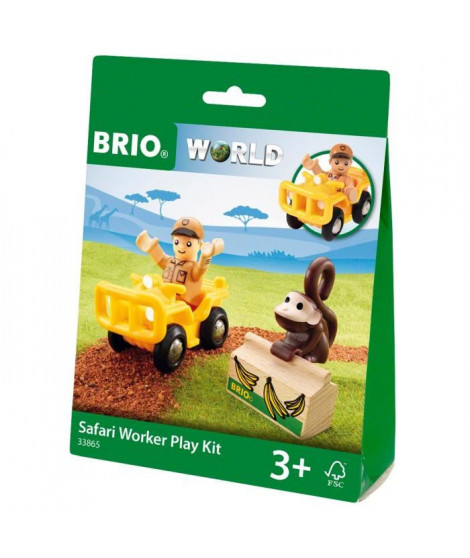 BRIO World  - 33865 - Pochette Decouverte Safari - Jouet en bois