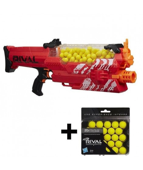 NERF RIVAL - Nemesis MXVII Rouge + 25 Recharges Offertes !