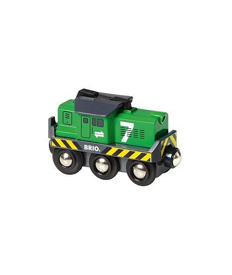 BRIO World  - 33214 - Locomotive De Fret A Pile