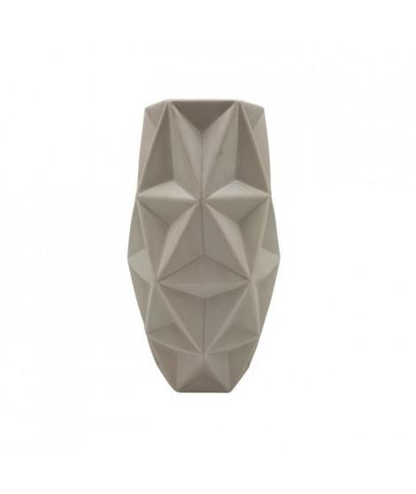 Vase origami Pliage - H 28 cm - Taupe