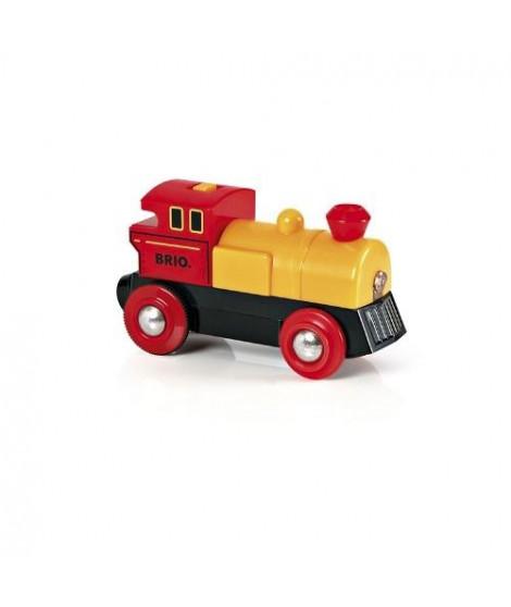 BRIO World  - 33594 - Locomotive A Pile Bi Directionnelle Jaune