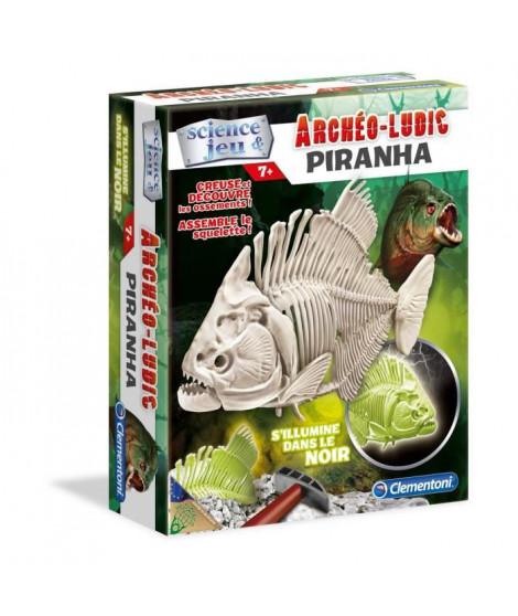 CLEMENTONI Archéo Ludic - Piranha Phosphorescent - Science & Jeu