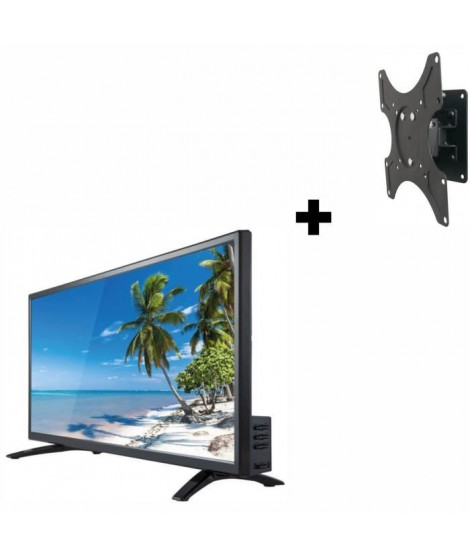 "Océanic TV LED - HD - 24"" (60CM) + INOTEK WMB 100 Support TV"