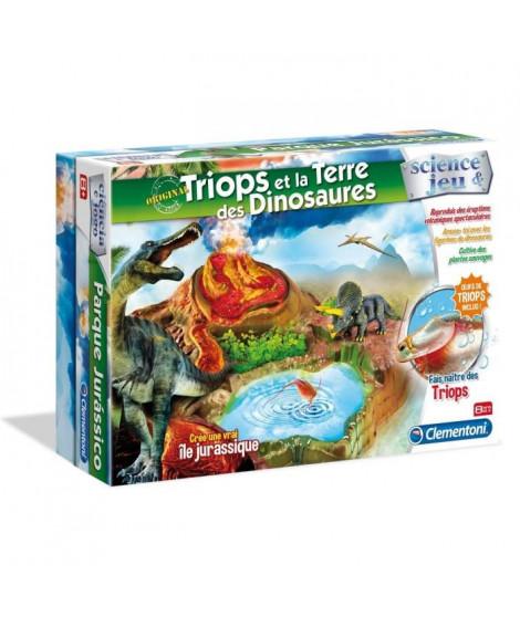 CLEMENTONI Science & Jeu - Triops & la Terre des Dinosaures - Jeu scientifique